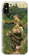 Shepherdess Carrying A Bunch Of Grapes IPhone Case