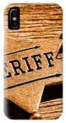 Sheriff Badge - Sepia IPhone Case