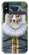 Shetland Sheepdog Art Canvas Print - The Painter And His Studio IPhone Case