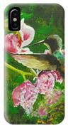 Shimmering Hummingbird  IPhone Case