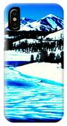 Shiny Snow Magic On Lake IPhone Case