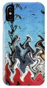 Ship At The Mooring Abstract IPhone Case
