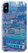 Shipping Containers And Building Windows Reflecting Graffiti  Art Of Valparaiso-chile IPhone Case