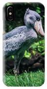 Shoebill Stork Side Portrait IPhone Case