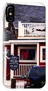 Shopping In Perkins Cove Maine IPhone Case