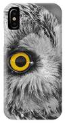 Short-eared Owl Mono Coloured Eye IPhone Case