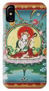 Shri Saraswati - Goddess Of Wisdom And Arts IPhone Case