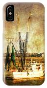 Shrimp Boat In Charleston IPhone Case