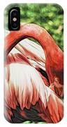 Shy Flamingo IPhone Case