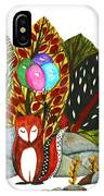 Shy Fox With Balloons  IPhone Case