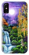 Siamese Cat By A Cascading Waterfall IPhone Case