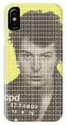 Sid Vicious Mug Shot - Yellow IPhone Case