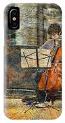 Sidewalk Cellist IPhone Case