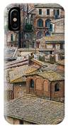 Siena Colored Roofs And Walls In Aerial View IPhone Case