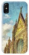 Siena Duomo Facade In The Sunset IPhone Case