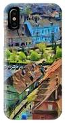 Sighisoara From Above IPhone Case