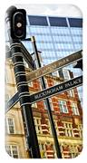 Signpost In London IPhone Case