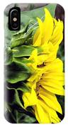 Silhouette Of A Sunflower IPhone Case