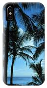 Silhouette Of Palms IPhone Case