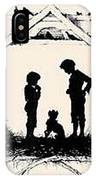 Silhouette Of The Book From The Village Of Memories 1882 5 Elizabeth Merkuryevna Boehm Endaurova IPhone Case