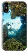 Silhouette Through Coral IPhone Case