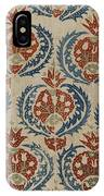 Silk Embroidered Linen Panel IPhone Case