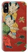 Silk Robe - Children Playing With Turtle IPhone Case
