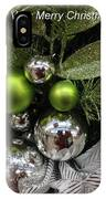 Silver And Green For Christmas IPhone Case