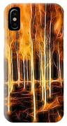 Silver Birches Flaming Abstract  IPhone Case