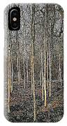 Silver Birch Winter Garden IPhone Case