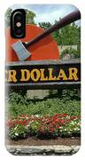 Silver Dollar City Sign IPhone Case