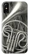 Silver French Horn IPhone Case