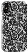 Silver Gray Paisley Design IPhone Case