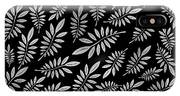 Silver Leaf Pattern 2 IPhone Case