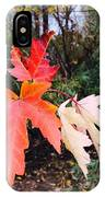 Silver Maple In Red IPhone Case