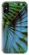 Silver Palm Leaf IPhone Case