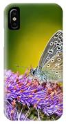 Silver-studded Blue Butterfly IPhone Case