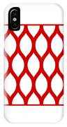 Simplified Latticework With Border In Red IPhone Case