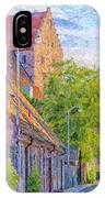 Simrishamn Street Scene Digital Painting IPhone Case