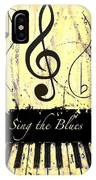 Sing The Blues Yellow IPhone Case