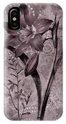 Single Lily-vintage Series  IPhone Case