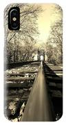 Single Track Mind - Sepia IPhone Case