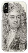 Sir John Vanbrugh, 1664 To 1726 IPhone Case