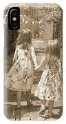 Sisters-sepia IPhone Case