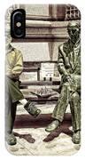 Sitting Next To A Statue Of Jan Karski Legendary Polish Underground Courier    IPhone Case