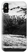 Skaftafell Glacier And End Lagoon With Icebergs Vatnajokull National Park In Iceland IPhone Case
