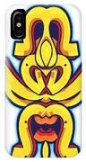 Skate Worrior Mask IPhone Case