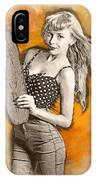 Skateboard Pin-up Illustration IPhone Case