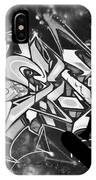 Skateboarder On Graffitti IPhone Case