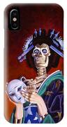 Skeletal Geisha With Mask IPhone Case